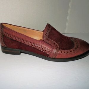 Monroe and Main Burgundy Slip-on Loafers